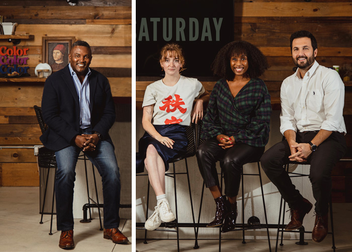 Pictured left-to-right, National Sales Director Norman Wright, Hanna O'Neil, Social Media Specialist for Color and Saturday, and Nikki Thomas, Trade Marketing Manager for Color and Saturday and Head of Adult-Use Sales and Marketing, Joseph Mele